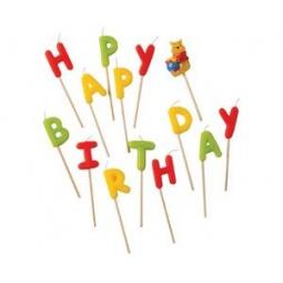 Купить Свечи-буквы Procos «Винни Happy Birthday»