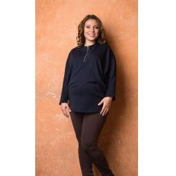 фото Туника теплая для беременных Nuova Vita 1520.01. Цвет: темно-синий. Размер одежды: 46