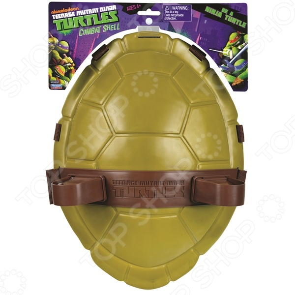 Щит супергероя Turtles Черепашки-ниндзя замечательный игровой аксессуар, который обязательно понравится юному поклоннику популярных супер героев - Черепашек-ниндзя. Этот удивительный щит позволит ребенку почувствовать себя настоящим героем, который готов продолжить приключения вместе со своими отважными друзьями. Прочный панцирь можно надежно закрепить, как на плечах, так и на поясе. Это очень удобно, если ребенку придется проводить сложные маневры. На тыльной стороне щита расположены специальные держатели для оружия.