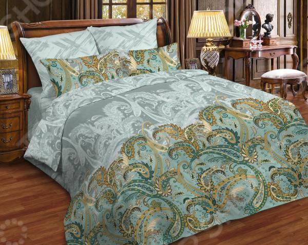 Комплект постельного белья La Vanille 663/2. 1,5-спальный1,5-спальные<br>Подарите себе и близким комфортный сон Комплект постельного белья La Vanille 663 2 это сочетание стильного дизайна и прекрасного качества пошива. Он не только внесет яркий акцент в интерьер вашей спальни, но и добавит ей гармонии, индивидуальности и особого домашнего уюта. В набор входит пододеяльник, простыня и две наволочки. Белье выполнено из поплина и украшено оригинальным рисунком. Поплин широко используется в производстве домашнего текстиля, так как отвечает всем, предъявляемым к данному типу изделий, требованиям. Ткань натуральная, производится из тонковолокнистой хлопковой пряжи и отличается особой технологией переплетения нитей. Нити хлопка, в отличии от той же бязи, у поплина расположены намного плотнее друг к другу, что и придает ей необыкновенную мягкость и гладкость.  Вместе с тем, белье из поплина также имеет отличную воздухопроницаемость и устойчивость к истиранию. Оно отлично впитывает влагу, поддерживает естественный температурный баланс тела, не электризуется и не скользит во время сна. Рисунок нанесен с использованием высококачественных красителей, не выцветает и не линяет во время стирки. Постельное белье La Vanille это:  натуральные гипоаллергенные ткани;  использование стойких нетоксичных красителей;  устойчивость к многократным стиркам;  прочные качественные швы;  большой выбор дизайнов и расцветок.    Ткани и готовые изделия производятся на современном импортном оборудовании и отвечают европейским стандартам качества. Стирать белье рекомендуется в деликатном режиме без использования агрессивных моющих средств. La Vanille с ароматом ванили Среди особенностей коллекции постельного белья La Vanille также стоит отметить и то, что внутри каждого комплекта вас ждет небольшой, но приятный сюрприз деревянная палочка-ароматизатор. Она пропитана пищевой ванильной эссенцией, поэтому абсолютно натуральна и гипоаллергенна. Благодаря такому сюрпризу , белье приобретает легкий аромат в
