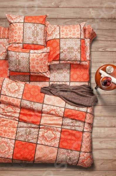 Комплект постельного белья Сова и Жаворонок «Шафран» комлев и ковыль