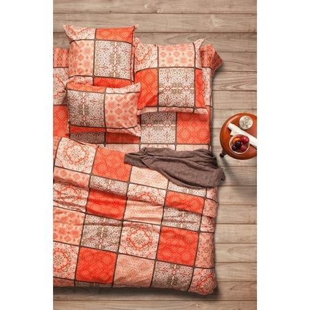 Купить Комплект постельного белья Сова и Жаворонок Premium «Шафран». Евро