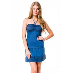 фото Комплект одежды Mondigo 8590. Цвет: джинсовый. Размер одежды: 44