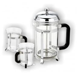 """фото Набор: кофеварка """"френч-пресс"""" и две чашки Vitesse Classiс VS-8336"""