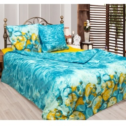 фото Комплект постельного белья Сова и Жаворонок «Лагуна». 1,5-спальный. Размер наволочки: 70х70 см — 2 шт