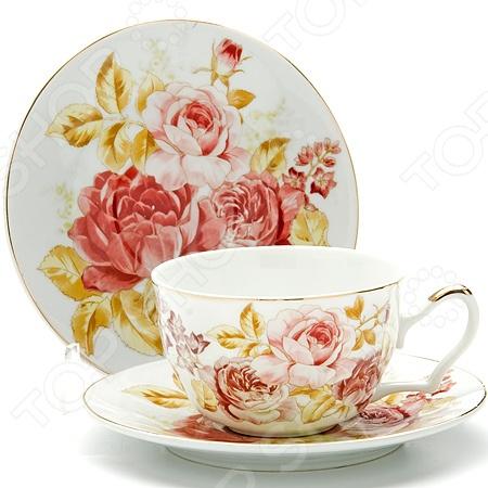 Чайная пара Loraine LR-24592 «Розы»Чайные и кофейные пары<br>Сервировка чайного столика не менее важна, чем сервировка основного праздничного стола, ведь качественная и красивая посуда позволит не только в полной мере насладиться напитком, но и получить эстетическое удовольствие от самого чаепития. Элегантный и красивый чайный набор Loraine LR-24592 Розы рассчитан на 2 персоны, поэтому он будет уместно смотреться, как на романтических встречах за чашечкой чая или кофе, так и на дружеских посиделках. Аккуратные чашечки и блюдца выполнены из высококачественной керамики. Однако несмотря на свою внешнюю хрупкость, они отличаются прочностью, легкостью, практичностью и эстетичностью. Они легко справляются с высокими температурами, а качественное покрытие не позволит внутренней стороне потемнеть, даже если вы предпочитаете очень крепкий чай или кофе. Яркий и красочный дизайн с очаровательным цветочным рисунком является дополнительным преимуществом этой чайной пары, которое оценят даже самые взыскательные ценители стиля и красоты. Чайный набор Loraine LR-24592 Розы станет идеальным и незаменимым подарком, который по достоинству оценят ваши друзья и близкие! Набору пакован в подарочную коробку, с внутренней части задрапированной белым атласом.<br>