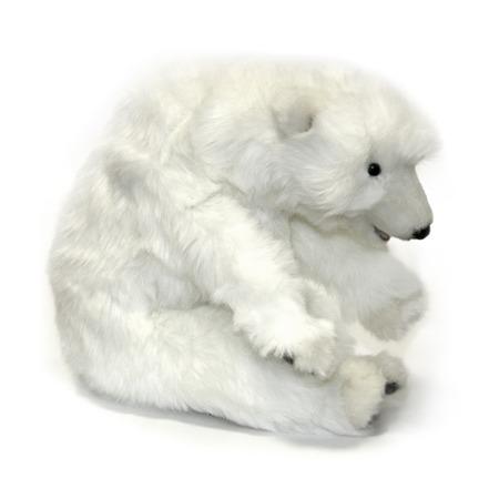 Купить Мягкая игрушка для ребенка Hansa «Белый медвежонок спящий»