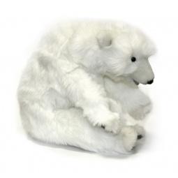 фото Мягкая игрушка для ребенка Hansa «Белый медвежонок спящий»