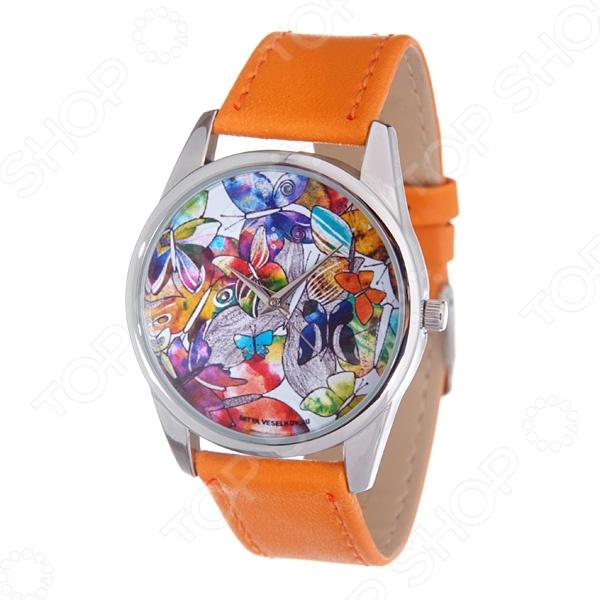 Часы наручные Mitya Veselkov «Бабочки акварелью»