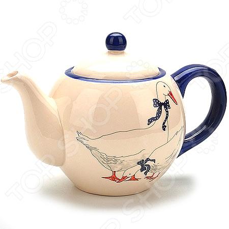 Чайник заварочный Loraine «Гуси» LR-4702 чайник заварочный loraine lr 23768 0 7л белый с рисунком ромашки
