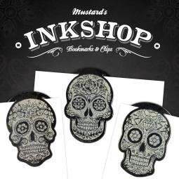 Купить Закладки-скрепки Mustard Ink Shop skulls