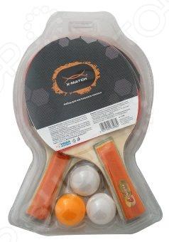 Набор для настольного тенниса X-MATCH 63588Наборы для настольного тенниса<br>Набор для настольного тенниса X-MATCH 63588 это практичный набор для любителей этого вида спорта. В наборе вы найдете 2 ракетки и 3 ярких мяча. Попробуйте предложить вашим детям пару ракеток и очень скоро вы увидите с каким удовольствием они проводят время. Ракетки имеют двухслойную резину, что позволяет шарикам легко отскакивать от поверхности. Этот комплект подойдёт как для начинающих игроков, так и для уже продвинутых спортсменов.<br>