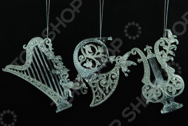 Елочное украшение Crystal Deco «Музыкальные инструменты». В ассортименте