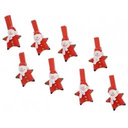 фото Набор прищепок бельевых с декором Феникс-Презент 38487 «Снеговик-звездочка»