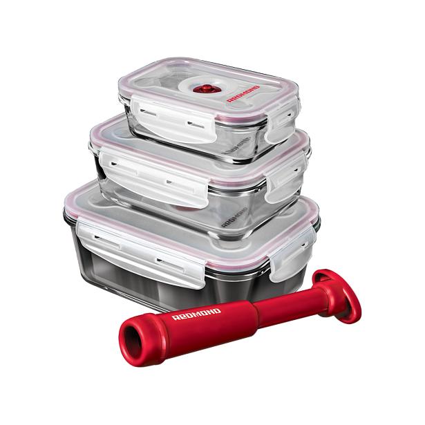 фото Набор контейнеров вакуумных Redmond RAM -VS1