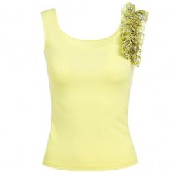 фото Топ Milana Style «Бритни». Цвет: желтый. Размер одежды: 52