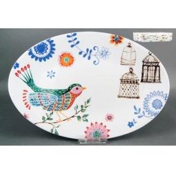 Купить Блюдо овальное Коралл «Синяя птица»