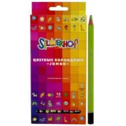 фото Набор карандашей цветных Silwerhof Jumbo Emotions Creative: 18 цветов
