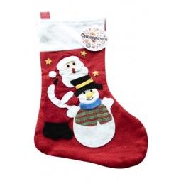 фото Носочек для подарков Снегурочка «Дед Мороз и Снеговик»