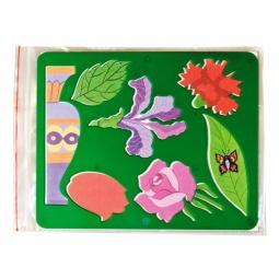 фото Трафарет пластиковый Луч «Цветы садовые». В ассортименте