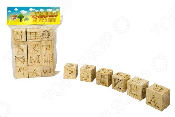 Кубики обучающие Русские деревянные игрушки Алфавит и Цифры станут чудесным подарком для вашего любимого чада. Подобные игрушки способствуют развитию у детей мелкой моторики рук, логики и когнитивного мышления. Кроме того, это еще и прекрасная возможность в игровой форме обучить малыша русскому алфавиту. В игровой набор входят шесть деревянных кубиков. Буквы на кубики нанесены методом лазерной гравировки.
