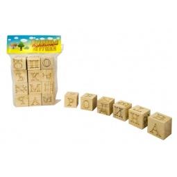 Купить Кубики обучающие Русские деревянные игрушки «Алфавит и Цифры»