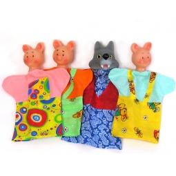 Купить Набор для кукольного театра Русский стиль «Три поросенка» 40599. В ассортименте