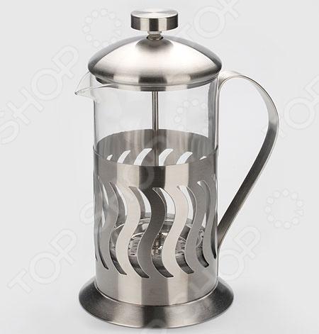 Френч-пресс Mayer&amp;amp;Boch MB-8132Френч-прессы<br>Френч-пресс Mayer Boch MB-8132 - современное устройство с помощью которого можно быстро и легко заварить кофе или чай. Напиток настаивается, а за тем с помощью специального поршня - отжимается. Модель очень удобна и практична в использовании: напитки и воду легко засыпать и заливать в френч-пресс, а так же его очень удобно мыть. Стеклянная колба выполнена из высококачественного жаропрочного стекла, а основание и крышка из нержавеющей стали. С френч-прессом вы в любой момент сможете насладиться свежим и ароматным напитком.<br>