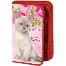 фото Пенал Проф-Пресс «Котенок и розовые цветы»