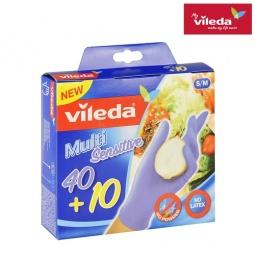 фото Перчатки хозяйственные одноразовые Vileda. Размер: S/M