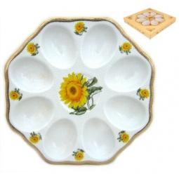 Купить Менажница для яиц Elan Gallery «Желтый подсолнух» 501615