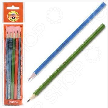 Набор карандашей простых Koh-I-Noor Alpha качественный канцелярский набор, который включает в себя 5 чернографитных карандашей. Каждый карандаш имеет удобную эргономичную форму и гладкий скользящий грифель, позволяющий писать легко с минимальным усилием. Благодаря специально разработанному составу грифеля и особой технике производства, данный карандаш обладает непревзойденной устойчивостью к поломке. Специальная обработка дерева позволяет легко затачивать карандаш.