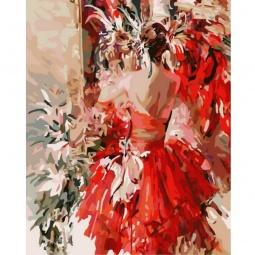 фото Набор для раскрашивания по номерам Белоснежка «Девушка в красном»