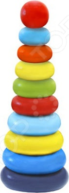 Игрушка-пирамидка Alatoys «Колечки» 050110Пирамидки для малышей<br>Игрушка-пирамидка Alatoys Колечки 050110 замечательный подарок для малышей, играть с которым не только увлекательно, но и полезно. Это своеобразный тренажер, развивающий координацию движений обеих рук и мелкую моторику. Ребенок знакомится с разными цветами и размерами объектов, учится сравнивать и соотносить их. Кроме того, при помощи деталей пирамидки можно освоить устный счет.<br>