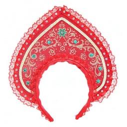 фото Головной убор маскарадный Новогодняя сказка «Кокошник» 949214