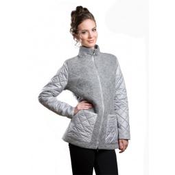 фото Пальто Sirenia Лучана. Цвет: серый. Размер одежды: 54