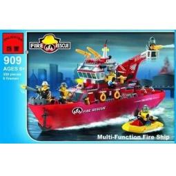 фото Конструктор игровой для ребенка Brick «Спасательный корабль» 909