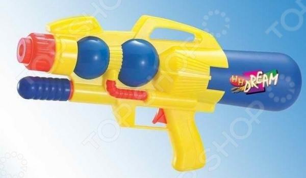 Пистолет водный 1719300Водные пистолеты<br>Пистолет водный 1719300 яркий водный пистолет, готовый стать прекрасным развлечением для вас и ваших детей в жаркий солнечный день лета. Для его использования не требуется много усилий просто залейте в емкость воду, после чего пистолет готов стрельбе. Он достаточно мощный, поэтому струя доходит довольно далеко. Приятного времяпрепровождения!<br>