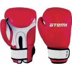 фото Перчатки боксерские ATEMI 02-005 красно-белые. Размер: 8 OZ