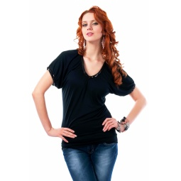 фото Туника Mondigo 8384. Цвет: черный. Размер одежды: 44