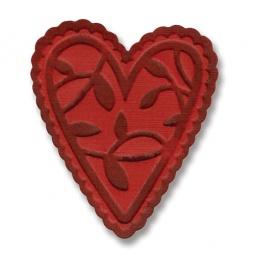 фото Форма для вырубки и эмбоссирования Sizzix Embosslits Die Кружевное сердечко