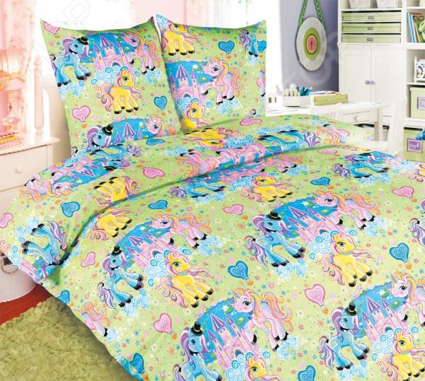 Ясельный комплект постельного белья Бамбино «Чудо-Пони»