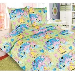 фото Ясельный комплект постельного белья Бамбино «Чудо-Пони»