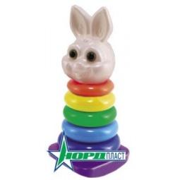 фото Игрушка-пирамидка Нордпласт «Кролик» 06373