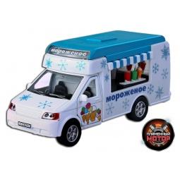фото Машинка инерционная Пламенный Мотор «Фургон Мороженое»