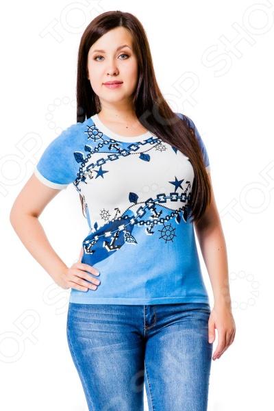 Кофта Mondigo 20035. Цвет: джинсовыйДжемперы. Кардиганы. Свитеры<br>Кофта Mondigo 20035 удобная вещь для прохладной погоды. Это изделие прекрасно смотрится как само по себе, так и в сочетании с другими вещами и аксессуарами женского гардероба. Комфортная кофта подойдет для повседневного использования дома или на работе, но за счет дополнительных аксессуаров и бижутерии может стать хорошим вариантом даже для романтического вечера.  Прочные материалы и качественный крой.  Округлый вырез горловины подчеркнет красоту вашей шеи. Изделие сшито из материала, состоящего на 72 из вискозы с добавлением нейлона для прочности. Ткань хорошо пропускает воздух и не задерживает влагу.<br>