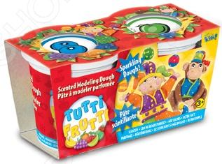 Набор массы для лепки Bojeux Tutti-Frutti 154 прекрасно подойдет для детского творчества. Такие занятия способствуют развитию у малышей воображения, пространственного мышления, мелкой моторики рук и восприятия форм и цветов. В качестве рабочего материала для создания поделок используется пластичное тесто, предназначенное для моделирования и лепки различных изделий. Оно абсолютно безвредно для здоровья детей, состоит исключительно из натуральных компонентов муки, соли и воды с добавлением пищевых красителей и ароматизаторов. В набор входят две баночки с ароматизированным тестом массой 128 грамм каждая.