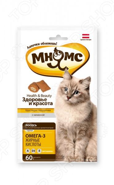 Лакомство для кошек Мнямс «Хрустящие подушечки. Здоровье и красота»