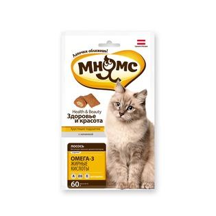 Купить Лакомство для кошек Мнямс «Хрустящие подушечки. Здоровье и красота»
