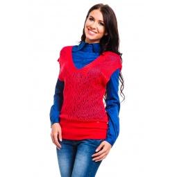 фото Кофта Mondigo 9492. Цвет: брусничный. Размер одежды: 46